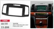 Переходная рамка Carav 11-200 Toyota Allion (T240/245), Premio 2001-2007, 2-DIN