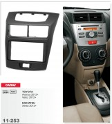 Переходная рамка Carav 11-253 Toyota Avanza, Veloz 2012+ / Daihatsu Xenia 2012+, 2-DIN
