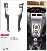 Переходная рамка Carav 11-100 Toyota Yaris,Vitz, Platz 2005-2010 (Silver), 2-DIN
