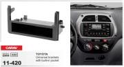 Переходная рамка Carav 11-420 Toyota Universal side brackets with built-in pocket, 1-DIN