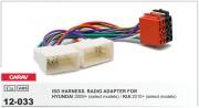 Переходник / адаптер ISO Carav 12-033 для Hyundai iX-35, Solaris, i-25, Verna, Accent 2010+ / KIA Sportage 2010+, Rio 2011+