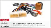 Переходник / адаптер ISO Carav 12-039 для Hyundai iX-35, Solaris, i-25, Verna, Accent 2010+ / KIA Sportage 2010+, Rio 2011+