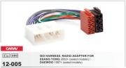 Переходник / адаптер ISO Carav 12-005 для Ssang Yong 2005+ / Daewoo 1997+