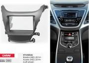 Переходная рамка Carav 11-483 Hyundai Elantra (MD), Avante (MD) 2014+ (с рулем слева), 2 DIN