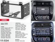 Carav Переходная рамка Carav 11-534 Ford, Lincoln, Mercury, Mazda, 2 DIN