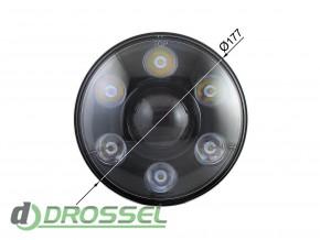 Би-светодиодные LED фары 7'' (ближний / дальний свет + DRL)_8