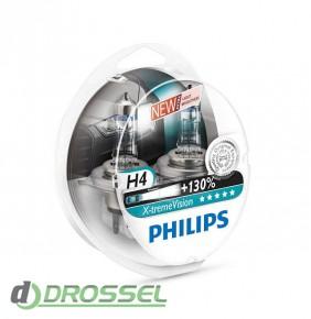 Комплект галогенных ламп Philips X-tremeVision PS 12342XV+S2 (H4