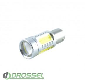 Zax LED S25 (P21W 1156 BA15S) HIGH POWER 5PCS Lens 7.5W White