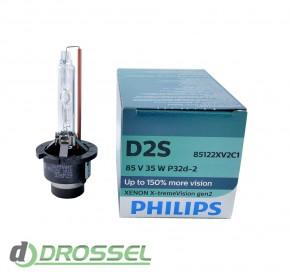 Philips Xenon X-tremeVision gen2 D2S 85122XV2C1 35W 4800K_12