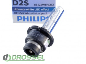 Philips Xenon WhiteVision gen2 D2S 85122WHV2C1 35W 5000K_5