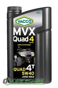 Моторное масло для квадроциклов Yacco MVX Quad 4 Synth 5W-40