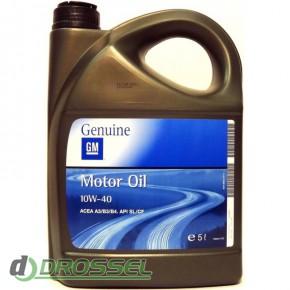 Полусинтетическое оригинальное моторное масло GM 10w-40 1942046