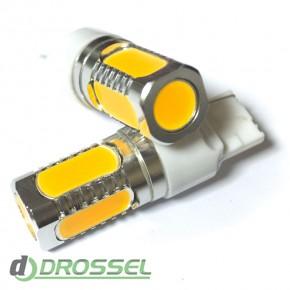 Светодиодная лампа LED T20 (W21W 7440) HIGH POWER 5PCS 7.5W Yell