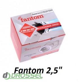 """Би-ксеноновые линзы Fantom 2,5"""" (65мм)"""